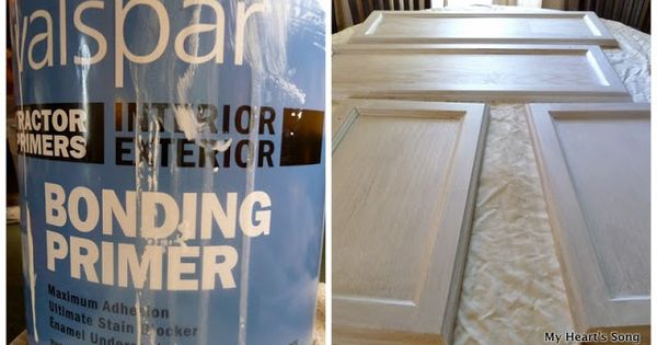 Use bonding primer to prep cabinets for painting the for Best bonding primer for kitchen cabinets