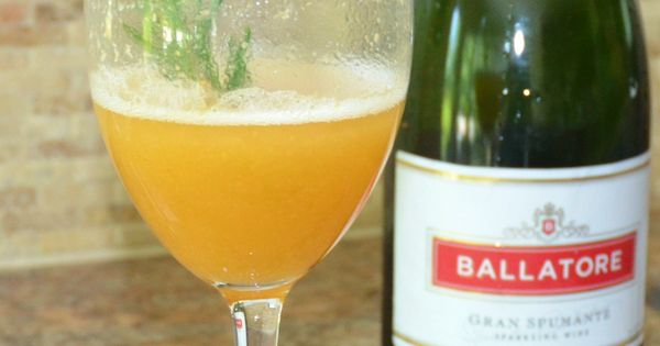 """Kim's version: Sparkling Rosemary-Peach Cocktail   """"Pin"""" There;..."""