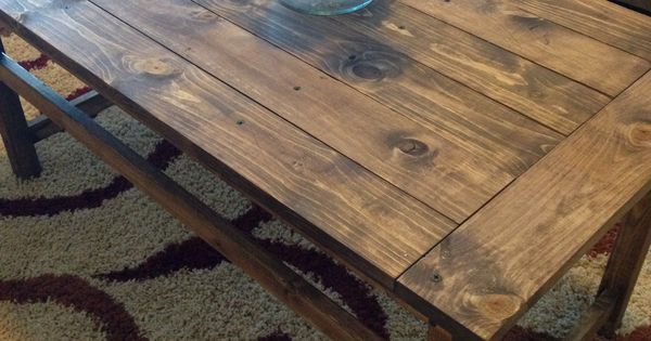 DIY coffee table with Minwax