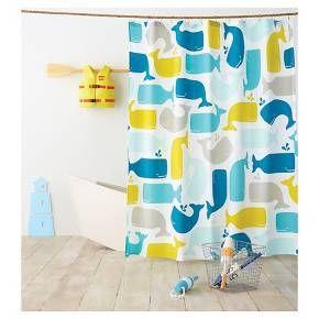 Whale Shower Curtain Amparo Blue Pillowfort Target Kids