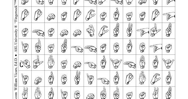 ASL - American Sign Language - Word Search Game