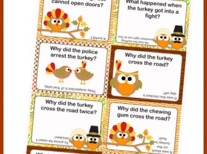 Make your kid laugh with these Thanksgiving Lunch Box Notes using Thanksgiving
