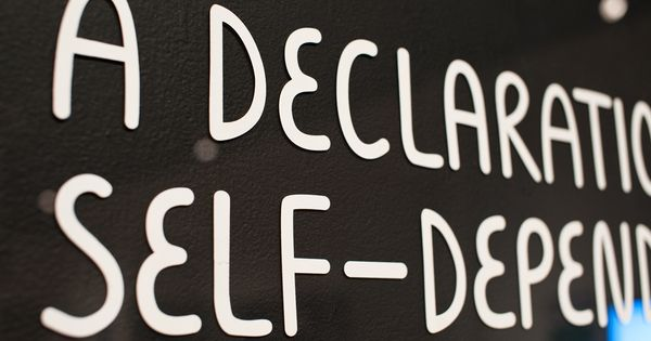 A Declaration Of Self Dependence On Typography Served