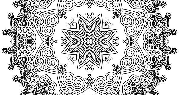 Coloriage D'un Superbe Mandala De Haut Niveau Très Complexe à Colorier