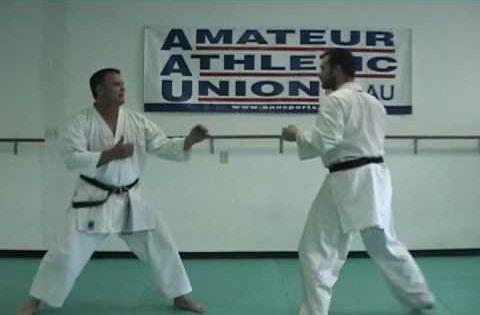 Kumite Tip 1 3 Rock Step Block And Counter Against Back Fist Reverse Punch Kumite Shotokan Karate Rock Steps