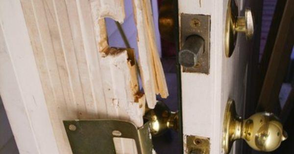 Door Jamb Latch Striker Plate Reinforcement With Images Door Jamb Doors Home Security