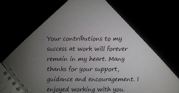 Thank You Notes And Appreciation Messages For A Colleague Thank