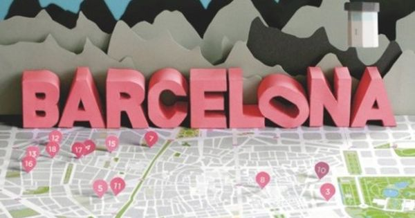 Barcelona Map 3D Paper Craft by Anna Härlin | http://3dchar.blogspot.com