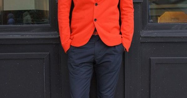 Dear, Future Husband... You shall wear brightly colored blazers. -MCJ