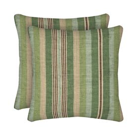 Allen Roth 2 Pack Green Striped Square Throw Pillows Zf01554b D9c2 Outdoor Decorative Pillows Square Throw Pillow Throw Pillows