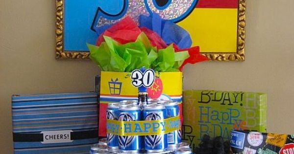 Beer Can Birthday Cake 2 (Cute idea for a 21st b-day!)