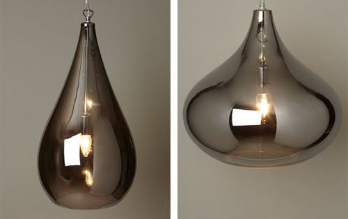 1970s-style: Lily and Leah smoke glass pendant lights at BHS Lighting Pinterest 1970s ...