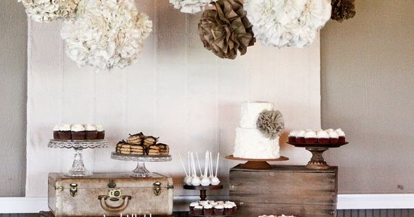Fall colors wedding dessert table ideas | Burlap and Lace Wedding Dessert