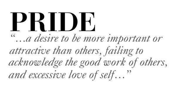 Pride definition essay