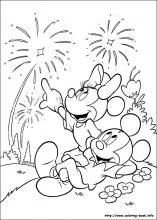 Fourth July Coloring Mickey Coloring Pages Minnie Mouse Coloring Pages Mickey Mouse Coloring Pages