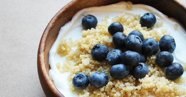 Quinoa, Blueberries and Yogurt on Pinterest