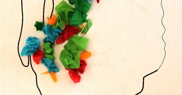 Tissue paper turkey Thanksgiving Craft for Kids