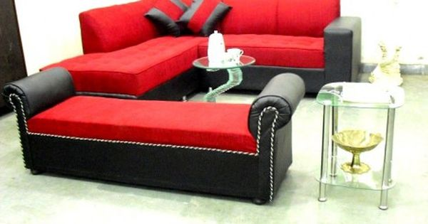 For Sale Red L Shape Sofa With Settee For More Information Please Visit Http Usedfurnitures In Product L Shaped Sofa In 2020 Sofa Bed Sale Beds For Sale Sofa Bed Set