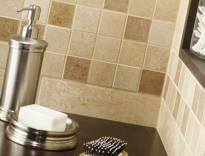 This American Olean Bathroom Features Pozzalo Tile In