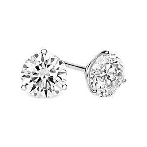 1 2 Carat Round Diamond Martini Glass 3 Prong Stud Earrings Princess Diamond Earrings Stud Earrings Heart Earrings Studs