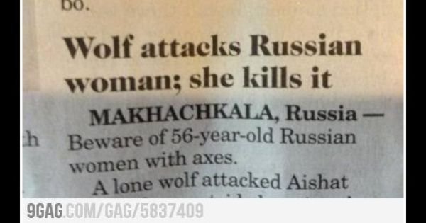 In Soviet Russia... red riding hood kills wolf.