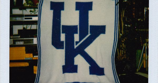University Of Kentucky Afghan Crocheting With Merilyn