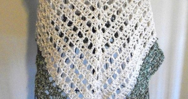 Lacy Crochet Triangular Shawl Pattern crochet lace ...