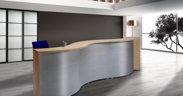 Mostrador curvo muebles para despachos material de oficina mobiliario cl nico mobiofic - Material oficina segunda mano ...