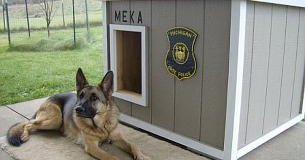 Police Dog Dog House Dog House Diy Dog House Plans Dog House