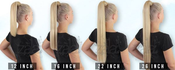 Zala Human Ponytail Clip In Hair Extensions 12 16 22 26