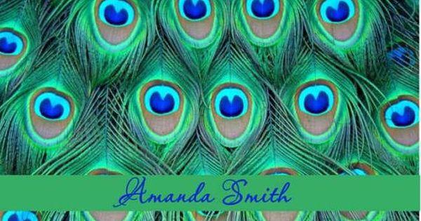 1 QTY=2 NAILFILE BOOKS Peacock Mini Nail File Matchbook