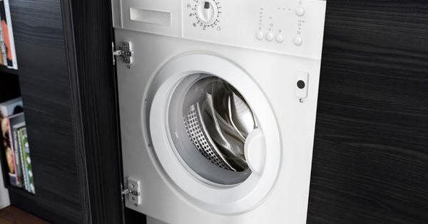 porte d armoire ouverte r v lant le lave linge int gr. Black Bedroom Furniture Sets. Home Design Ideas