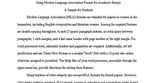 mla format examples