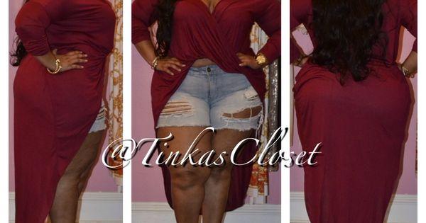 Plussize Fashion Tinka S Closet Maroon Drape Top 46