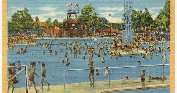 Fair Park Swimming Pool Swimming In Drinking Water Little Rock Arkansas Vintage Arkansas
