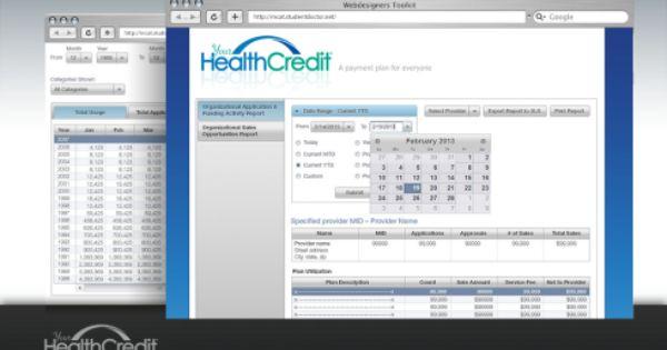 Your Health Credit Database Interactive Websites Development