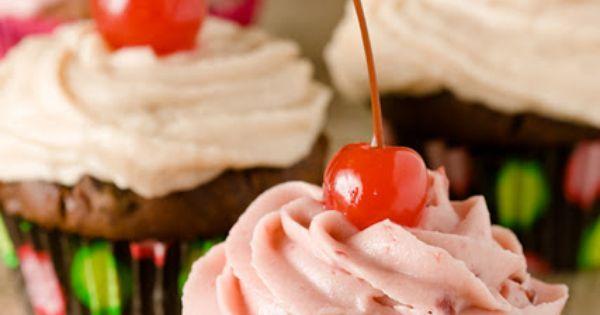 Chocolate Cherry Cupcakes, Two Ways   Chocolate Cherry Cupcakes ...