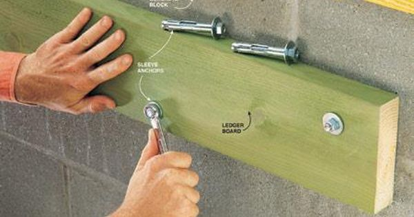 How To Choose And Use Concrete Fasteners Masonry Screws Concrete Block Walls Concrete Repair And Maintenance