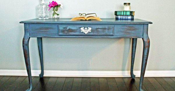 Vintage Painted Queen Anne Writing Desk Home Office Furniture Houston Texas Via Etsy