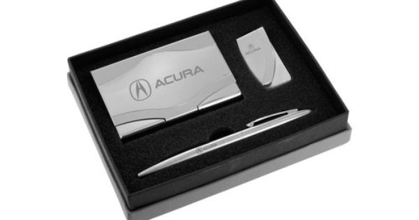 Acura Polished Business Card Holder Money Clip Pen Engravable Gift Set Acgbmpc A Business Card Holders Engraved Gifts Gift Set