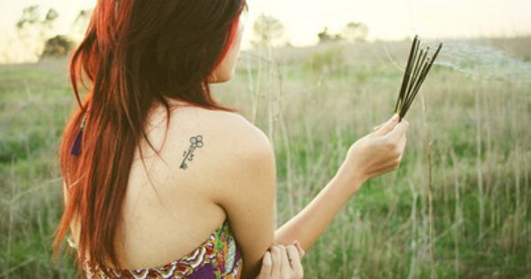 Shoulder blade tattoo placement. Simple. Cute.