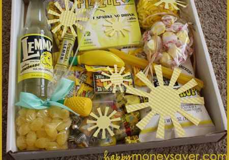 Send a box of sunshine! What a fun idea to brighten someone's