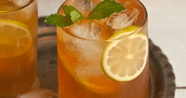 home-made ice tea with ginger, mint and lemon | Homemade ...