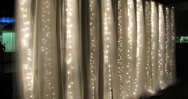 tulle + string lights