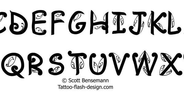 Maori Tattoo Font Alphabet