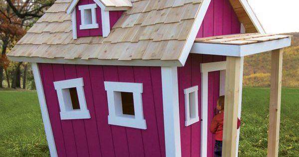 cabane de jardin pour enfant, une maison pourpre en bois ...