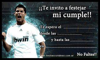 Cristiano Ronaldo Real Madrid Tarjetas De Cumpleaños