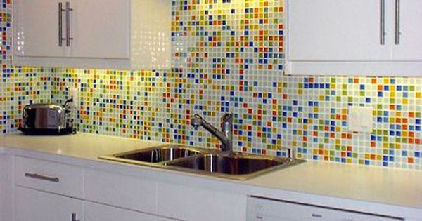 Glass Tile Kitchen Gallery Retro 1 Inch Backsplash Glass Tile Backsplash Kitchen Glass Tiles Kitchen Kitchen Wall Colors