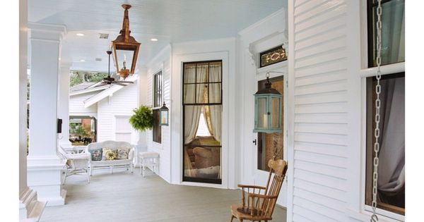 Southern Home Paint Color Palette Porch Ceiling Porch