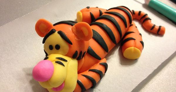 how to make tigger fondant figure